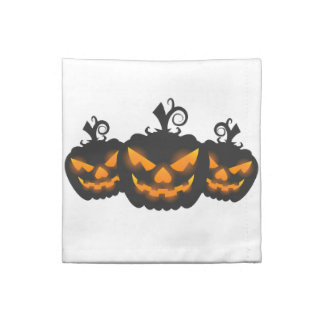 Jack-o-lantern cocktail napkins