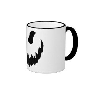 Jack-o-lantern coffee cup ringer mug