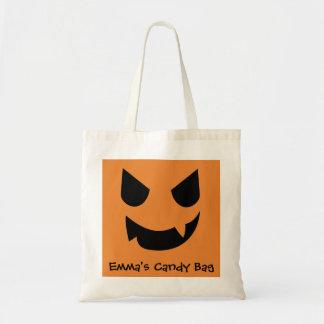 Jack-o-lantern Face Candy Bag Customisable