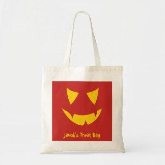 Jack-o-lantern Face Treat Bag Customisable