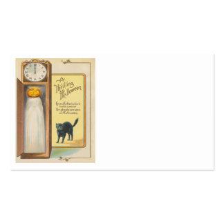 Jack O Lantern Ghost Black Cat Grandfather Clock Pack Of Standard Business Cards