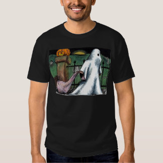 Jack O' Lantern Ghost Costume Cemetery Candy T Shirts