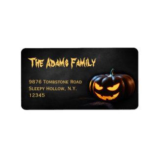 Jack-O-Lantern Halloween Address Label