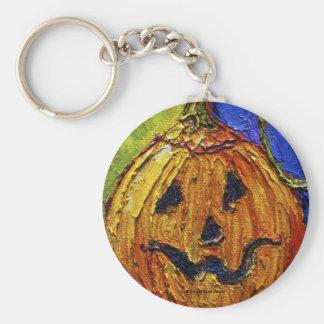 Jack-O-Lantern Halloween Key Chain