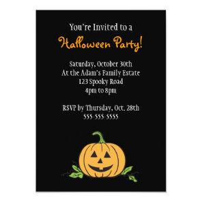 Jack 'O Lantern Halloween Party Invitation