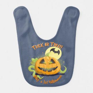 Jack O' Lantern Halloween Pumpkin Bibs