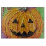 Jack-O-Lantern Halloween Pumpkin Cutting Board