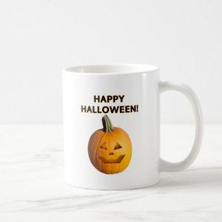 Jack O' Lantern - Happy Halloween! Basic White Mug