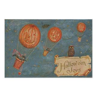 Jack O' Lantern Hot Air Balloon Black Cat Owl Photo Art