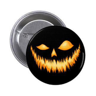 Jack O Lantern In The Dark With An Evil Grin 2 6 Cm Round Badge