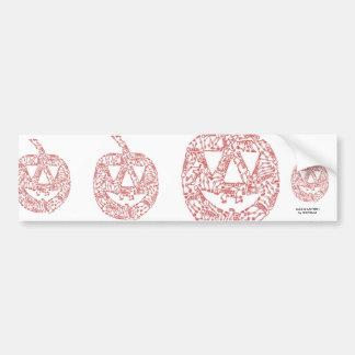 JACK-O-LANTERN made of Skeletons Bumper Sticker