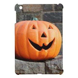 Jack-o-lantern on a stone wall cover for the iPad mini