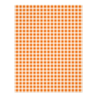 Jack o Lantern Orange and White Gingham Check 21.5 Cm X 28 Cm Flyer
