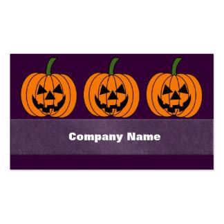Jack O' Lantern Pack Of Standard Business Cards