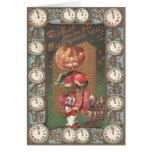 Jack O Lantern Pumpkin Bagpipe Kilt Greeting Card