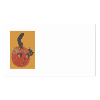 Jack O Lantern Pumpkin Black Cat Business Cards