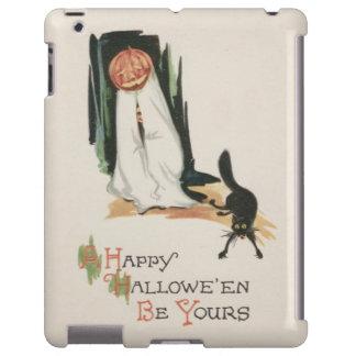 Jack O' Lantern Pumpkin Black Cat Prank iPad Case