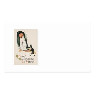 Jack O' Lantern Pumpkin Black Cat Prank Pack Of Standard Business Cards