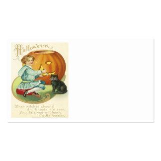Jack O Lantern Pumpkin Carving Black Cat Pack Of Standard Business Cards