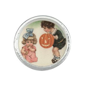 Jack O' Lantern Pumpkin Children Playing