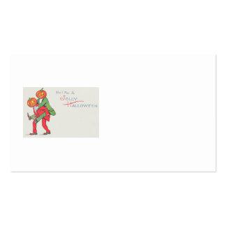 Jack O' Lantern Pumpkin Creature Piggyback Pack Of Standard Business Cards