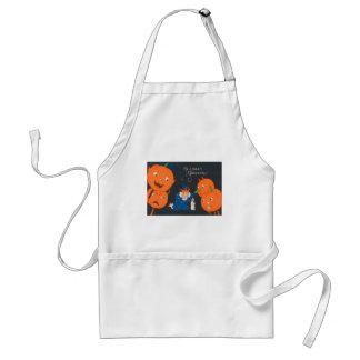 Jack O Lantern Pumpkin Dog Clown Standard Apron