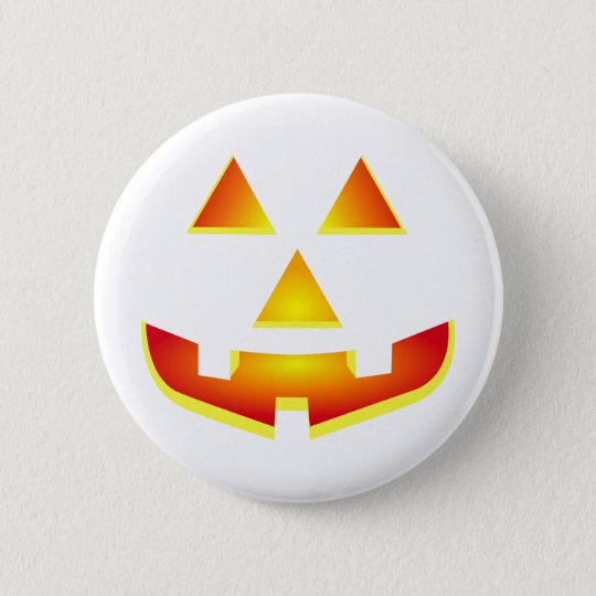Jack 'O Lantern Pumpkin Face 6 Cm Round Badge