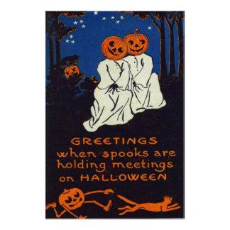 Jack O Lantern Pumpkin Ghost Costume Cat Art Photo