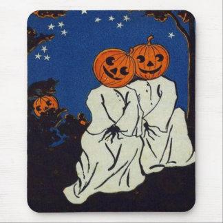 Jack O' Lantern Pumpkin Ghost Costume Mouse Mat
