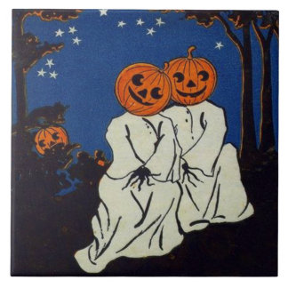 Jack O' Lantern Pumpkin Ghost Costume Tile