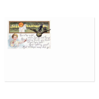 Jack O' Lantern Pumpkin Ghost Owl Goblin Large Business Cards (Pack Of 100)