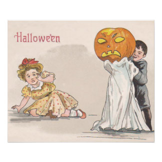 Jack O' Lantern Pumpkin Ghost Trick Or Treat Photograph