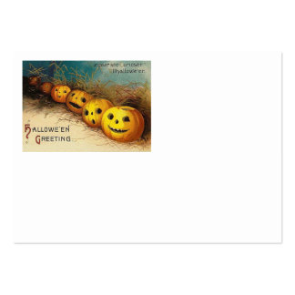 Jack O' Lantern Pumpkin Hay Field Large Business Cards (Pack Of 100)