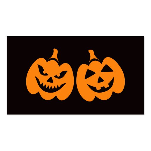 Jack o lantern pumpkin heads business card