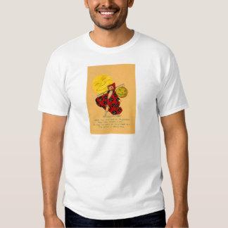 Jack O Lantern Pumpkin Man In The Moon Girl Tshirt