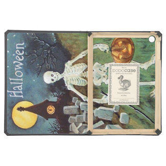 Jack O' Lantern Pumpkin Skeleton Cemetery iPad Air Covers