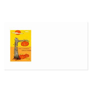 Jack O' Lantern Pumpkin Tree Leaves Pack Of Standard Business Cards