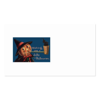Jack O' Lantern Pumpkin Witch Pipe Pack Of Standard Business Cards