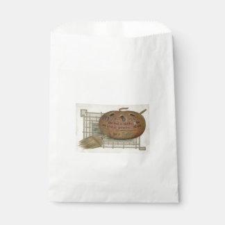 Jack O' Lantern Pumpkin Witch's Broom Favour Bags