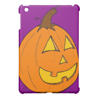 Jack O' Lantern Purple iPad Case