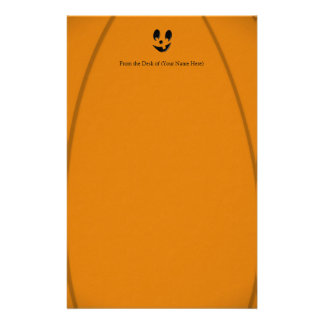 Jack-O-Lantern Silly Face with One Tooth Customized Stationery