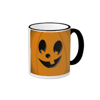 Jack-O-Lantern Silly Face with One Tooth Mug