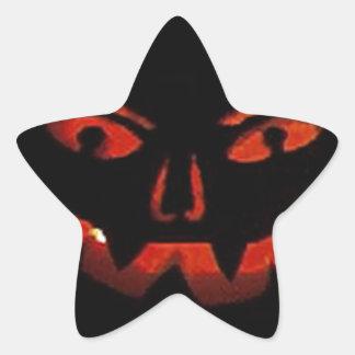 Jack O Lantern Star Stickers
