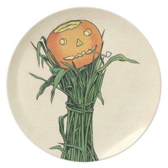 Jack-o-Lantern Vintage Halloween Plate