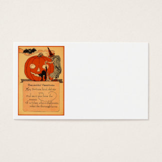 Jack O Lantern Witch Black Cat Bat Vintage