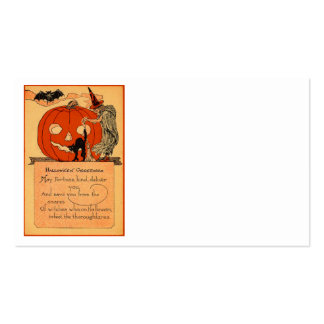 Jack O Lantern Witch Black Cat Bat Vintage Pack Of Standard Business Cards