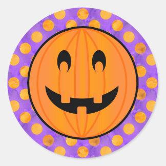 Jack o Lantern with Halloween Polka-dots Stickers