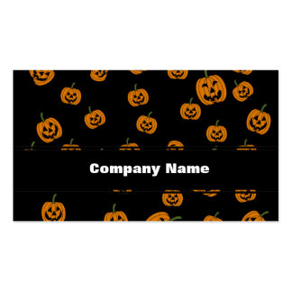 Jack O Lanterns background Business Card Templates