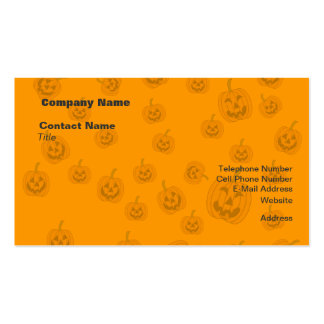 Jack O Lanterns background Business Cards