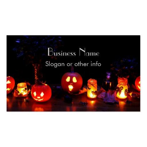 Jack-O-Lanterns Business Cards